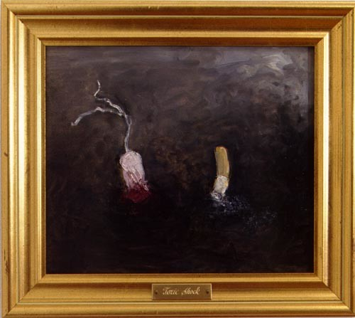 Fiona Hall Toxic Shock, 1996; Oil on canvas; 29 x 24 cm; enquire