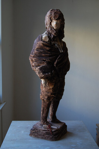 Linda Marrinon Voltaire, 2012; painted plaster; 81 x 32 cm; enquire