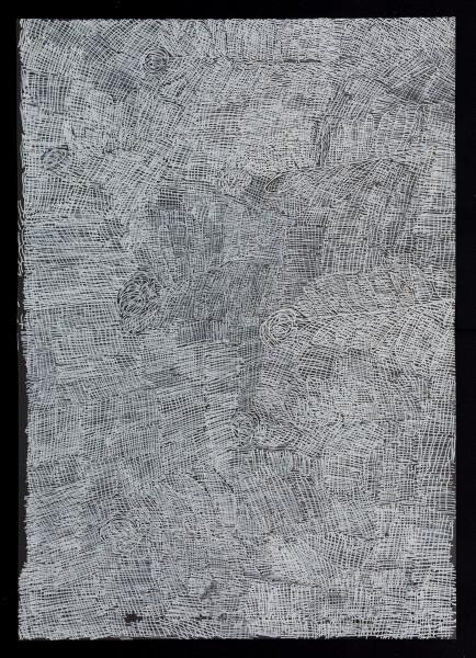 Nyapanyapa Yunupingu untitled, 2018; 5516-18; paint pen on clear acetate; 84 x 60 cm; Enquire