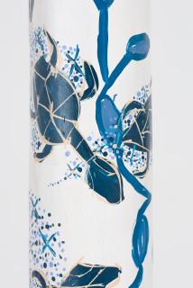 Dhambit Munuŋgurr Milpun milpun Dhambit phosphorescence (detail), 2020; 2575-20; acrylic on eucalyptus; 340 x 40 x 30 cm; enquire