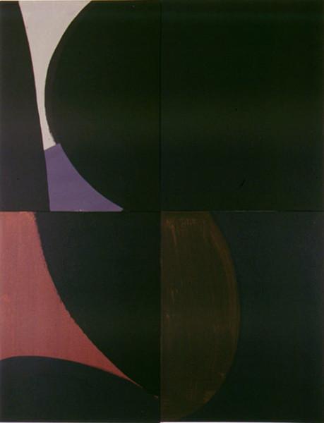 Tony Clark Lontano XXV, 2000; from the series Lontano; Acrylic on canvas board; 122 x 91.5 cm; 4 panels; enquire