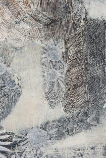 Nyapanyapa Yunupingu Djulpan (detail), 2021; 224-21; natural earth pigments on paper; 109 x 72.5 cm; enquire