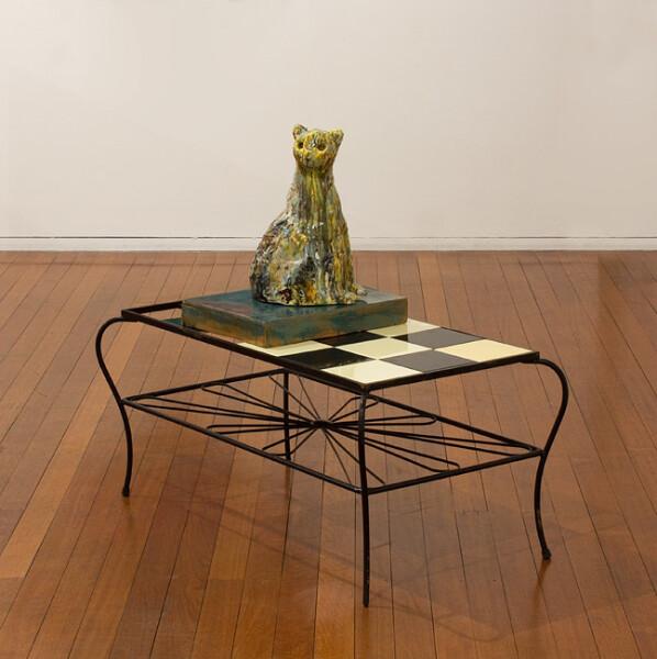 Joy Bye Guardian Cat, 2012; ceramic, found objects; 95 x 103 x 57 cm; enquire