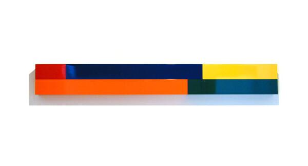 Michael Parekowhai Atarangi #8, 2004; two pot paint + aluminum; 20 x 160 x 10 cm; enquire