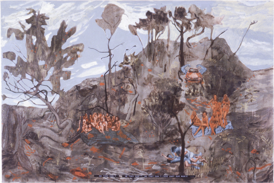 Geoff Lowe Nature II, 1988; synthetic polymer paint on linen; 81 x 122 cm; enquire