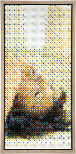 Claire Healy and Sean Cordeiro Vinager, 2014; Lego; 106.5 x 53 x 7.5 cm; enquire