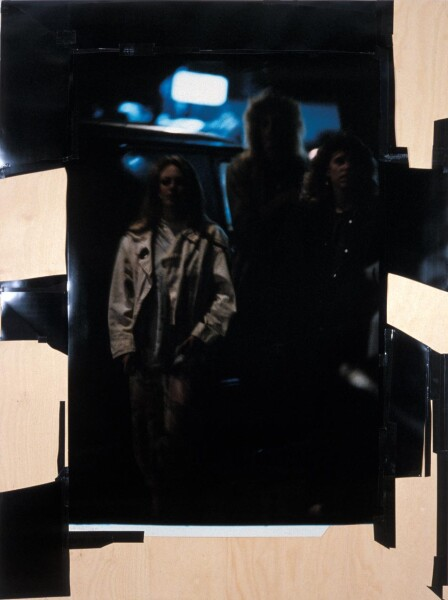 Bill Henson Untitled #16, 1987-88; CUT SCREENS; Photographic paper, 'Gaffer' tape and tacks on marine plywood; 224 x 180 cm; Edition of 3; enquire