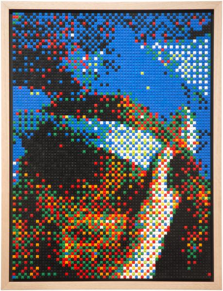 Claire Healy and Sean Cordeiro Smorboll, 2014; Lego; 79 x 60.5 cm; enquire