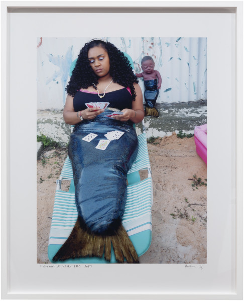 Destiny Deacon Fish out of water (B), 2017; lightjet print; 98 x 79.5 cm; (framed); Edition of 5 + 2 APs; enquire