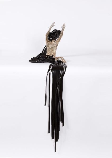 Caroline Rothwell Figure, 2013; Britannia metal, PVC, dimensions variable, metal figure; 34 x 16.5 x 23 cm; enquire