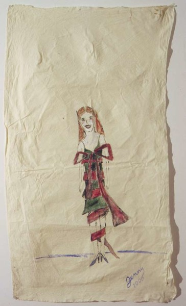 Jenny Watson Gift Wrap, 2001; oil on cotton; 154 x 85.5 cm; enquire