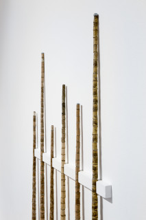 Hany Armanious Literature review (pool cues from 'Year of the Pig Sty'), 2007; epoxy, pigment; 161 x 90 x 3.5 cm; enquire