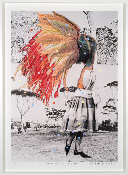 Del Kathryn Barton inside another land #43, 2016; acrylic and archival pigment ink on rag; 96 x 70 cm; (framed) Image size:  90  x 64cm; Edition of 2 + 2 A/Ps; enquire