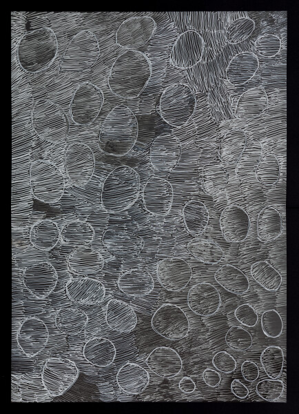 Nyapanyapa Yunupingu untitled, 2018; 5248-18; paint pen on clear acetate; 84 x 60 cm; enquire