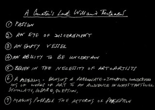 Juliet Darling A curator's last will and testament (still), 2012; DVD or blu-ray; 11 ½  mins, continuous loop; Edition of 20; enquire