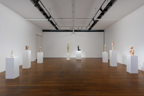 New works by Linda Marrinon in 'Scene at Edfu and other sculptures'