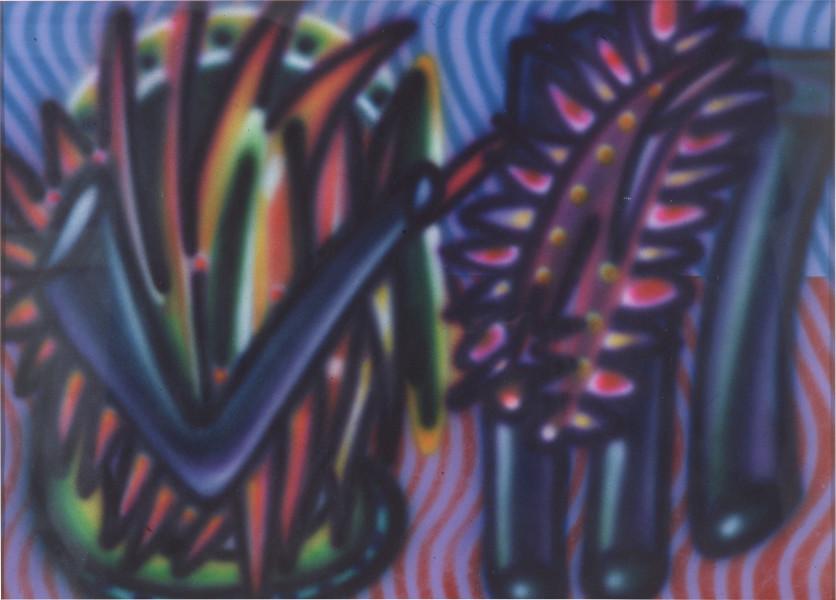 Howard Arkley Neocummgii, 1984; synthetic polymer on rag paper; 77 x 107 cm; enquire