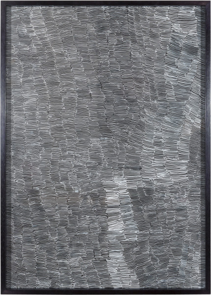 Nyapanyapa Yunupingu Untitled, 2012; 4305H - AC 6.3 Birrka'mirri; from the series Sydney Contemporary 2018; paint pen on clear acetate plastic; 86 x 61.5 cm; (framed); enquire
