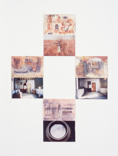 Nalini Malani Lohar Chawl 1-12, 1997; Transfer print, Watercolour/photograph on papier d'Arches; 41 x 31 cm; Edition of 5; enquire