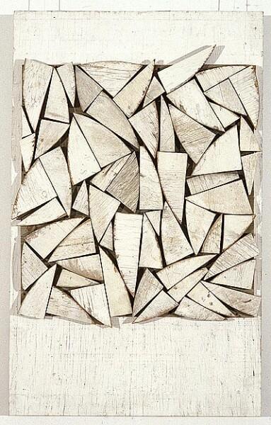 Rosalie Gascoigne Acanthus, 1995; sawn wood on craftboard; 100 x 68 cm; enquire