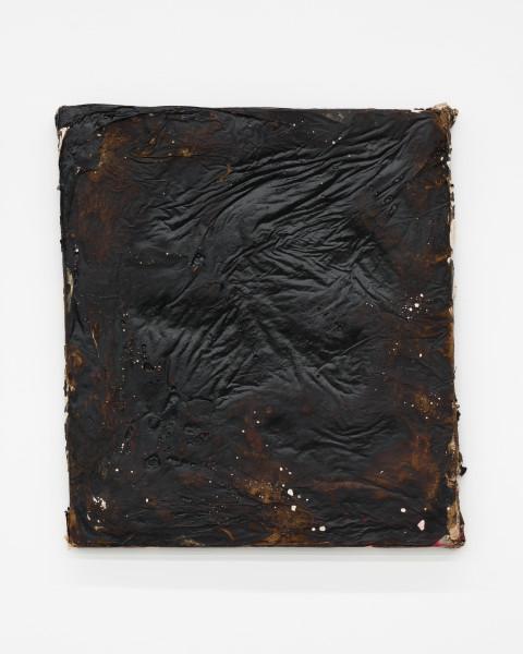 Kirtika Kain The Solar Line XXVII, 2020; Tar, plaster, rice paper, disused silk screen; 67 x 58 cm; enquire