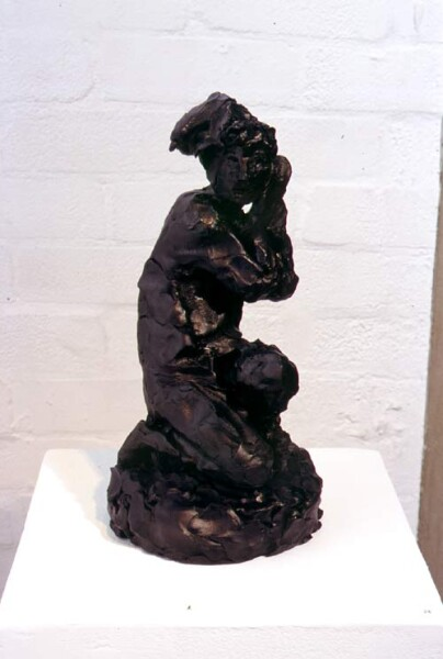 Linda Marrinon Neapolitan Fisherman, 1998; from the series Sculpture For The Home; Terracotta tinted to resemble bronze; 33 x 17 x 18 cm; enquire