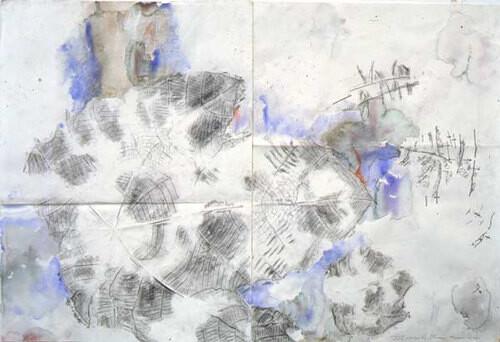 John Wolseley Macaranga drift, 2001; watercolour on paper; 76.5 x 114 cm; enquire