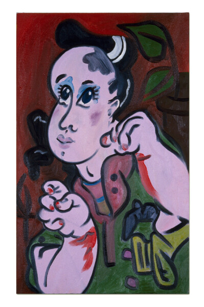 Linda Marrinon The Mauve Masher, 1990; oil on canvas; 66 x 41 cm; enquire