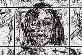 Pierre Mukeba Christine Kitenge (detail), 2021; charcoal and pastel on archival paper; 120 x 126 cm; enquire