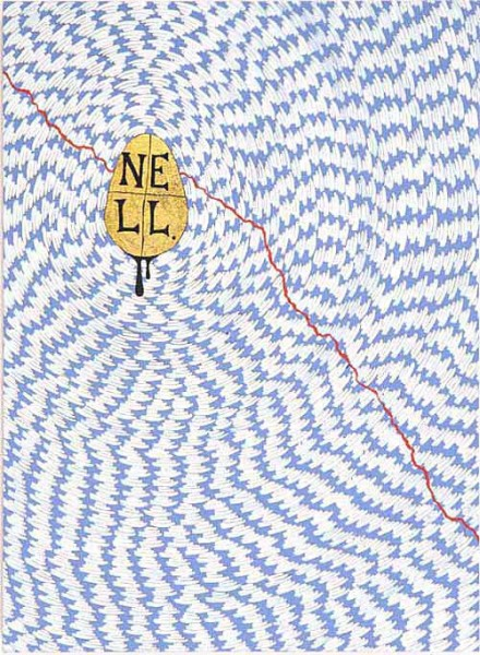Nell The Red Thread, 2003; Gold leaf, enamel & acrylic on canvas; 56 x 76 cm; enquire