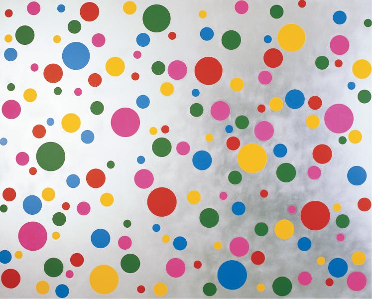 Yayoi Kusama Dots Infinity-NOWH, 2004; acrylic on canvas; 182 x 227 cm; enquire