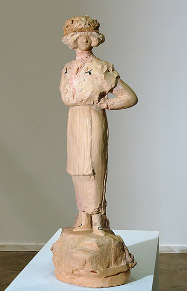 Linda Marrinon Edwardian Lady, 2008; Tinted and painted plaster; 76 x 25 x 20 cm; enquire