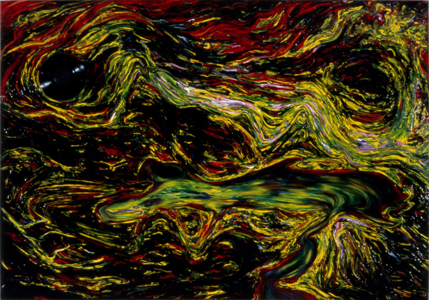 Dale Frank The Inland Sea (New Moon to the Warren), 1984; acrylic on canvas; 180 x 270 cm; enquire