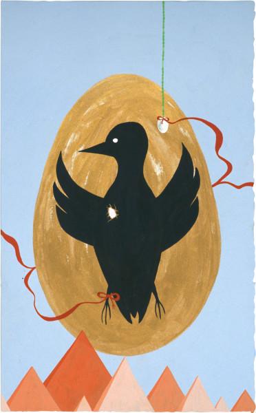 Nell Egg of Eye  Heart, 2004; gouache on paper; 34 x 21 cm; enquire