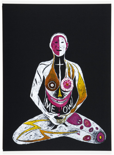 Nell MEOW, 2008; Nepalese pigment and acrylic on linen; 137 x 101.5 cm; enquire