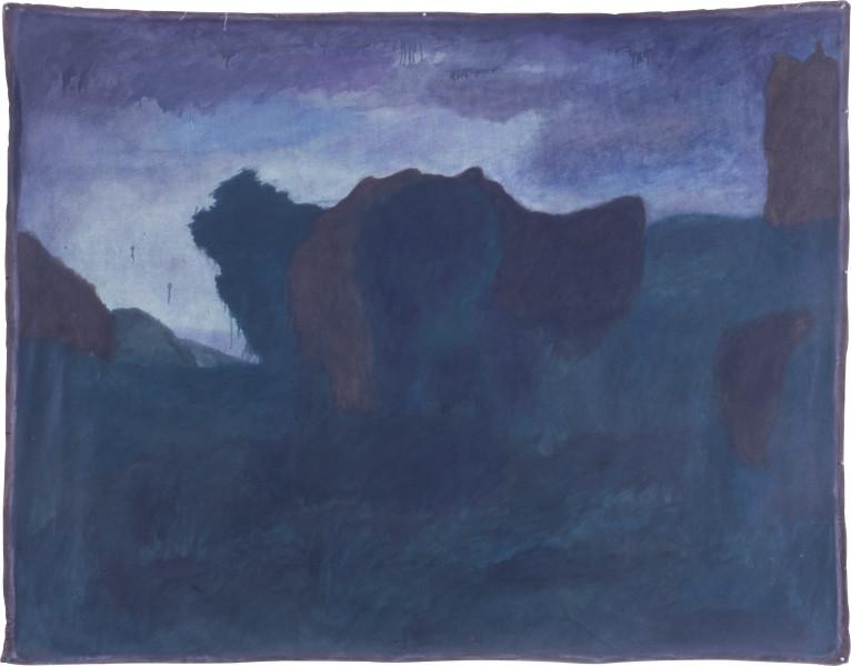 Elizabeth Newman Evening Scene, 1987; oil on canvas; 188 x 240 cm; enquire