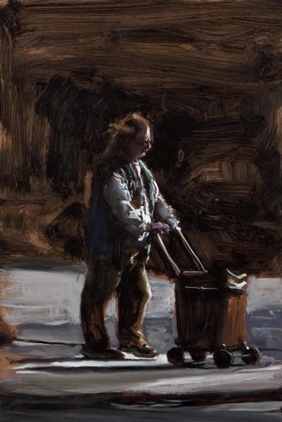 Louise Hearman Untitled #1327, 2010; Oil on masonite; 49.5 x 33 cm; enquire