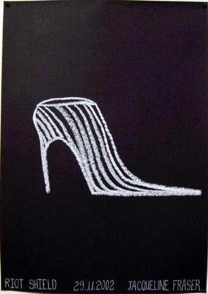 Jacqueline Fraser Riot Shield >, 2002; Oil stick on paper; 42 x 30 cm; enquire
