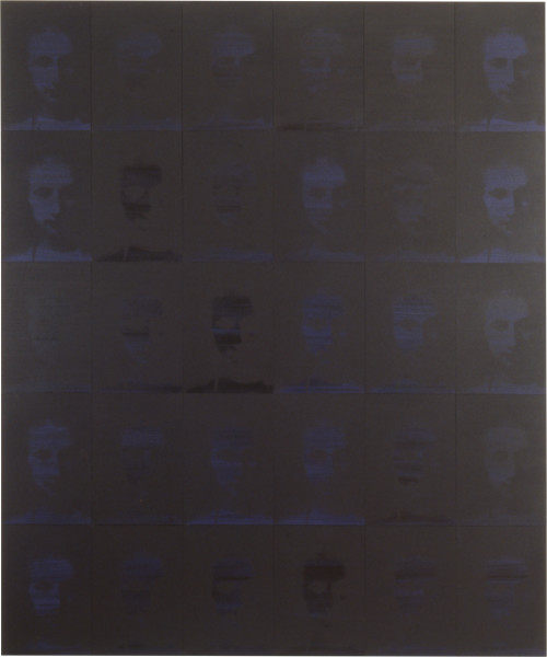 Lindy Lee To Move Beyond Choice, 1993; photocopy and acrylic on Stonehenge paper; 190 x 159 cm; 30 panels; enquire