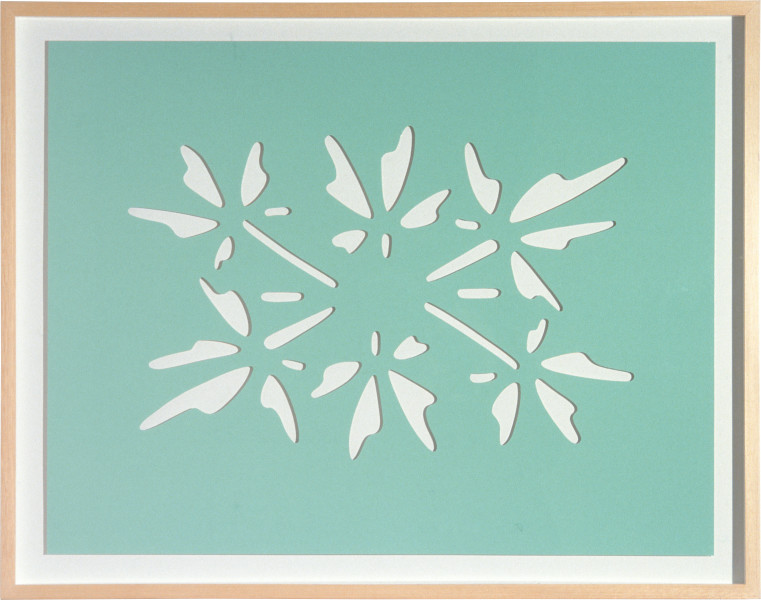 Craig Wood Safeway Gel Air Freshner, Alpine Garden (Detail), 1992; one colour screen print with mould cut sections and varnish; 66 x 86 cm; Edition of 65; enquire
