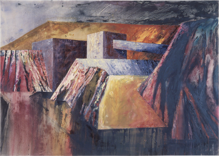 Mandy Martin Landscape Prothesis 2, 1986; oil on canvas; 170 x 240 cm; enquire