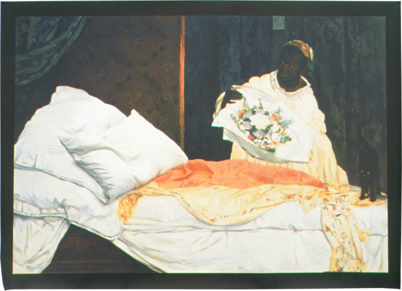 Julie Rrap Untitled (after Manet's 'Olympia'), 2002; Vutek print; solvent pigment inks on canvas; 81 x 120.5 cm; Edition of 9; enquire