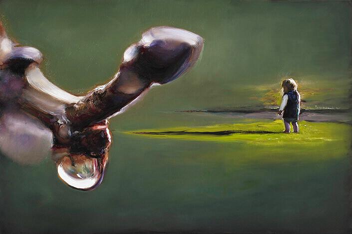 Louise Hearman Untitled #1293, 2009; oil on masonite; 61 x 91.5 cm; enquire
