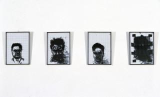 Mike Parr Reproduction Zero, 1986; A series of 14 Photocopy pieces; 30 x 40cm each; enquire