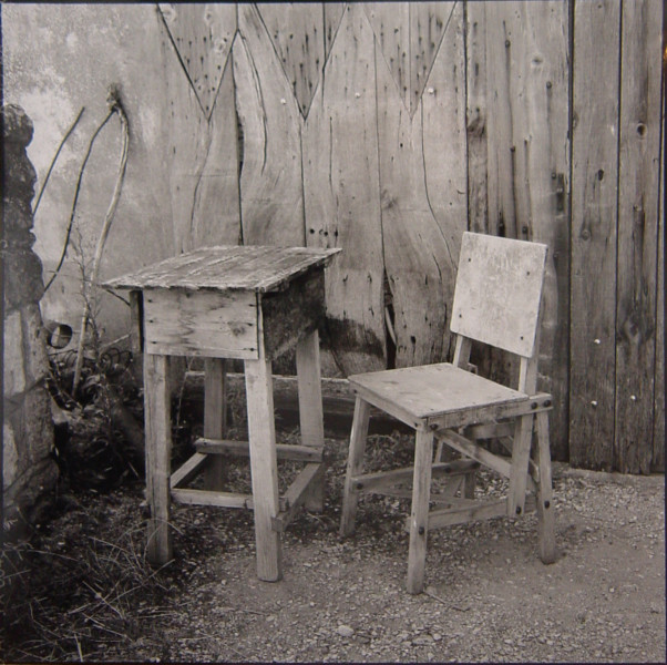Bill Culbert Table & Chair, France, 2002; silver gelatin prints; 40.5 x 40.5 cm; Edition of 25; enquire