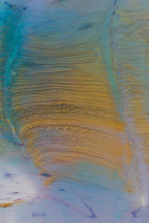 Dale Frank Lust (detail), 2020; powder pigments in resin, epoxyglass, on Perspex; 160 x 120 cm; enquire