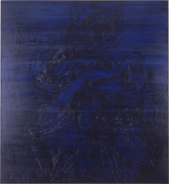 Lindy Lee My Utopia, 1989; oils and wax on canvas; 183 x 173 cm; enquire