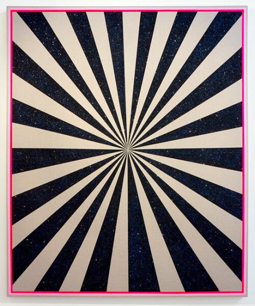 Jonny Niesche Sugar 'n' Spikes, 2012; linen, acrylic, glitter, glue; 185 x 154 cm; enquire
