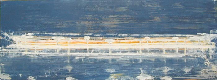 John Firth-Smith Reef #2, 2003; from the series 20.; oil on linen; 2ft 6in x 6ft 7in; enquire