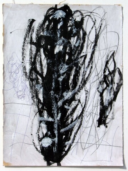 Newell Harry Untitled, 2006; gesso, pencil and oil stick on ironed Fabriano paper; 38 x 28 cm; enquire